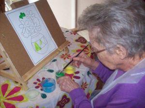 Mum painting