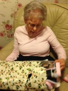 mum unwrapping